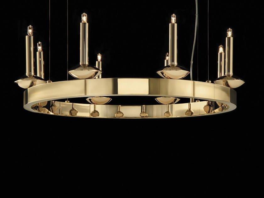 Lampadario a luce indiretta in ottone SHARON | Lampadario by Aiardini