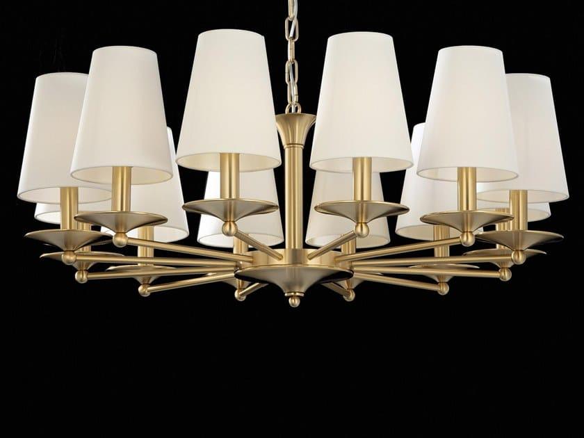 Lampadario a LED in ottone AMANDA | Lampadario by Aiardini