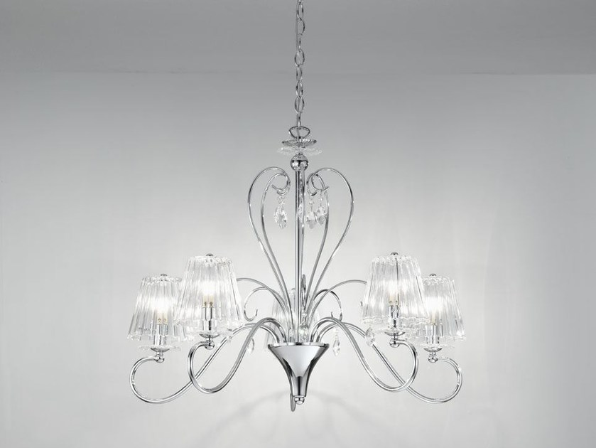 Chandelier with Swarovski® Crystals MADEMOISELLE | Chandelier by IDL EXPORT