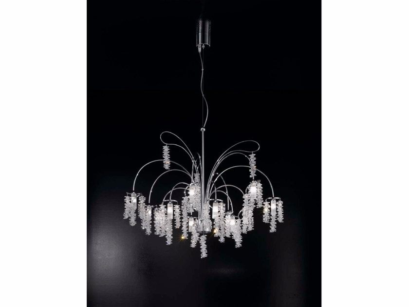 Direct light crystal chandelier SALICE | Chandelier by IDL EXPORT