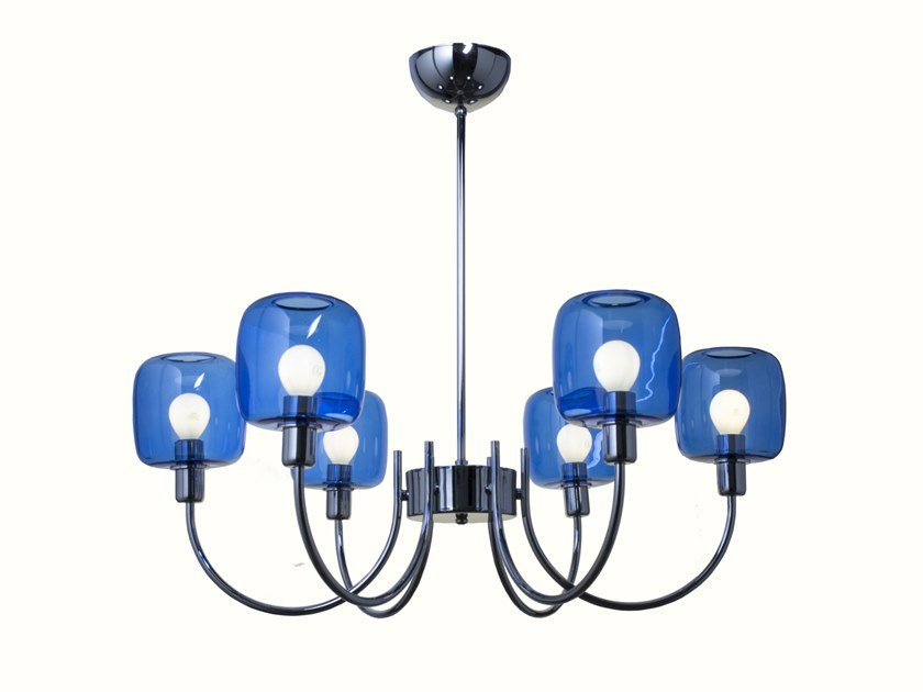 LED Borosilicate glass chandelier DIVA | Chandelier by SP Light and Design