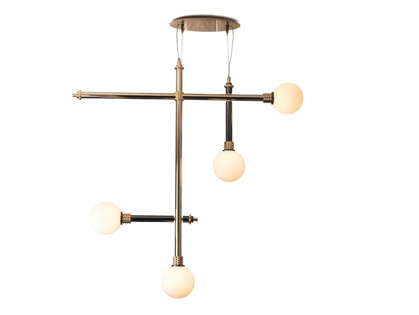 Brass chandelier ALPHA | Chandelier by Visionnaire