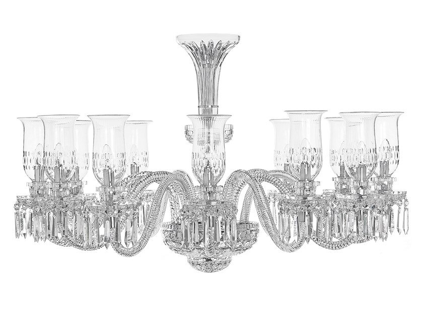 Crystal chandelier ROYAL | Chandelier with crystals by Saint-Louis