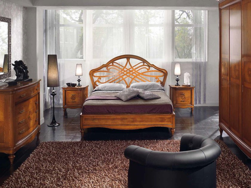 Solid wood double bed CHANEL | Solid wood bed by Arvestyle