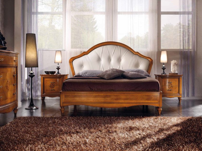 Double bed with tufted headboard CHANEL | Bed with tufted headboard by Arvestyle