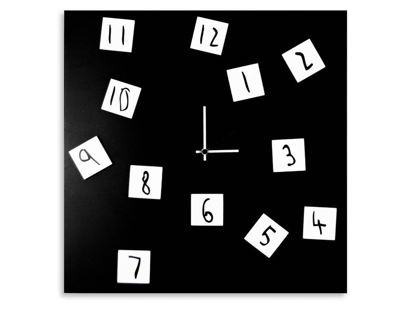 Wall-mounted plate clock CHANGING by Designobject.it