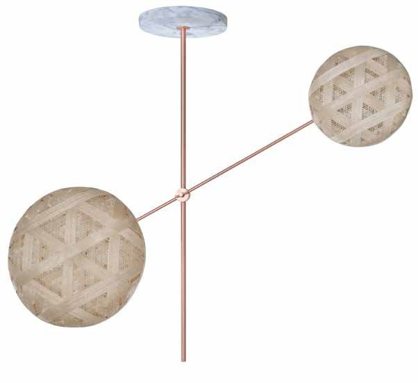 Contemporary style indirect light metal ceiling lamp CHANPEN 2L by Forestier