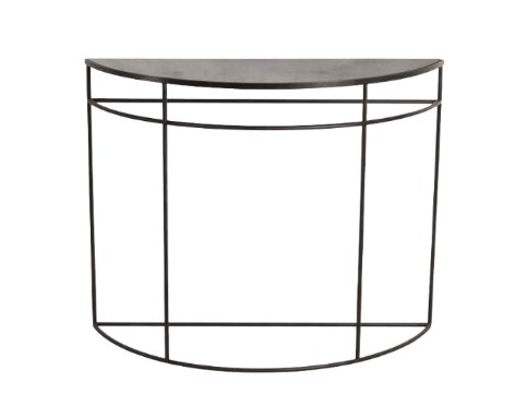 Demilune metal console table CHARCOAL HALF-MOON by Notre Monde