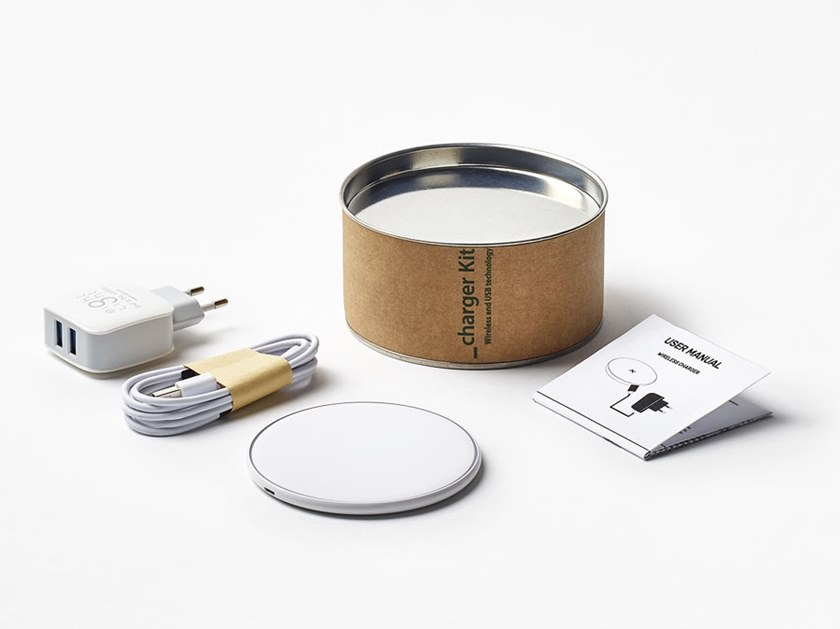 Wireless Battery charger Charging kit by 8-light
