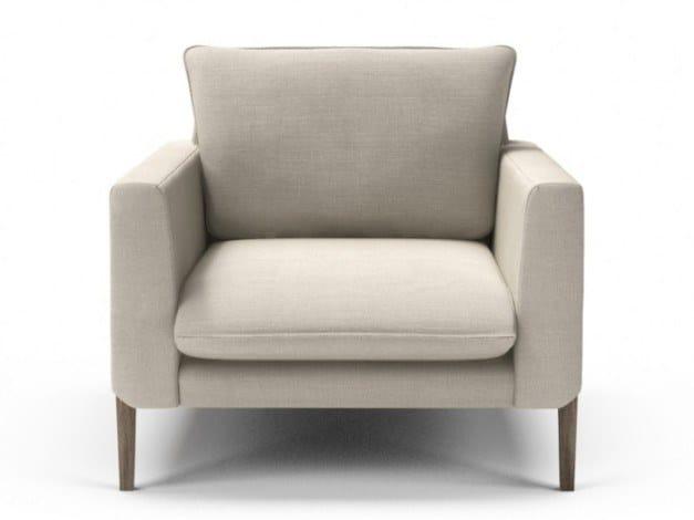 Fabric armchair with armrests CHARLES | Armchair by Huppé