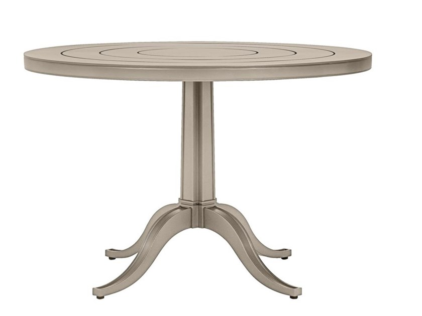 Round aluminium garden table CHARLES CONTINENTAL by JANUS et Cie