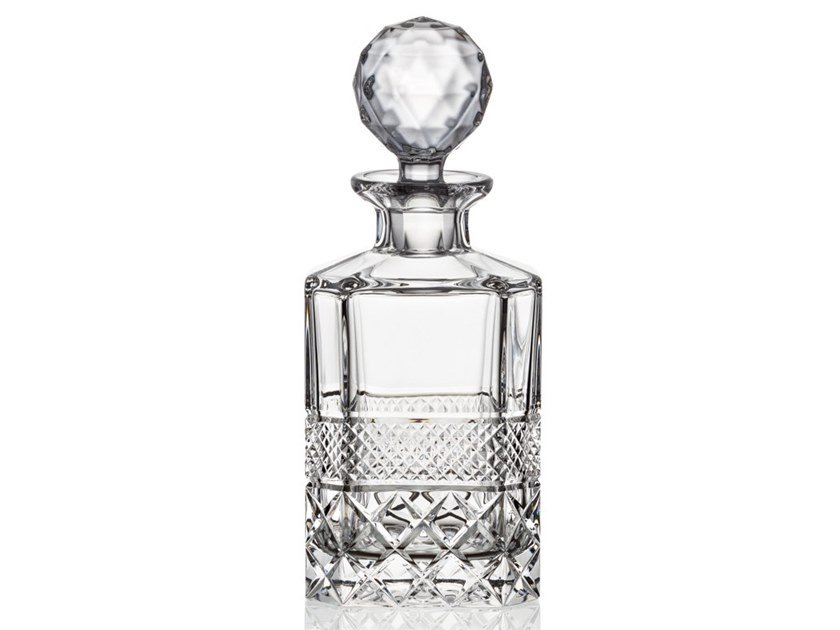 Whiskey crystal decanter CHARLES IV WHISKEY   Crystal decanter by Rückl