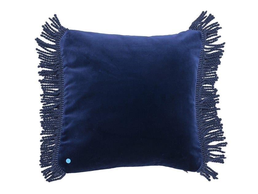 Solid-color square velvet cushion CHARLIE BLEU NUIT | Square cushion by Maison Madeleine