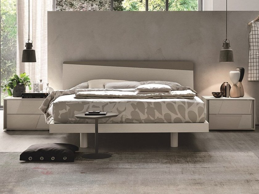 Lacquered double bed CHARLIE | Lacquered bed by Gruppo Tomasella
