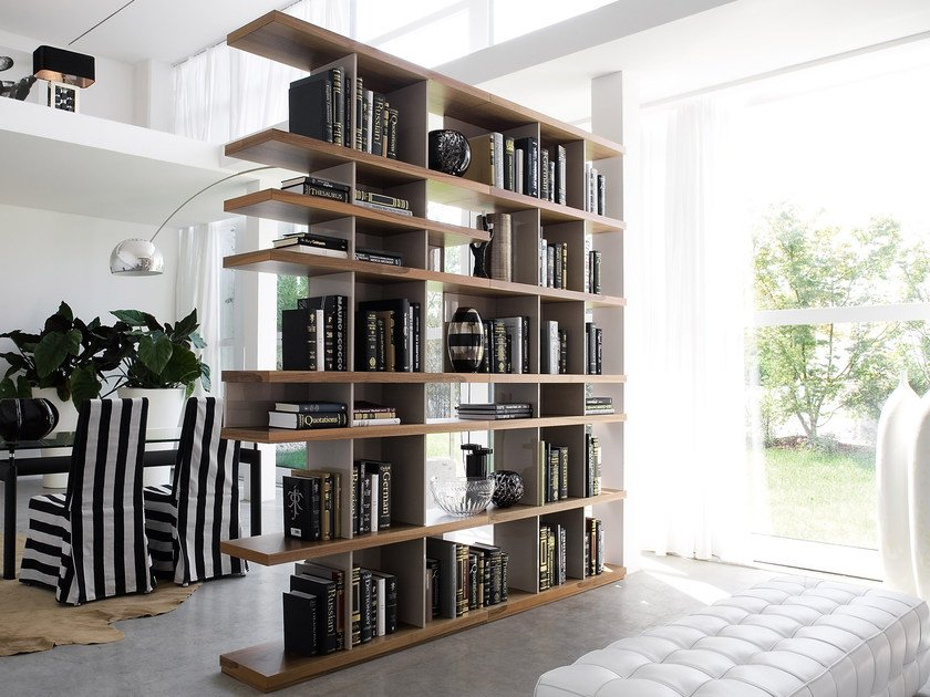 Open divider bookcase CHARLOTTE by Silenia