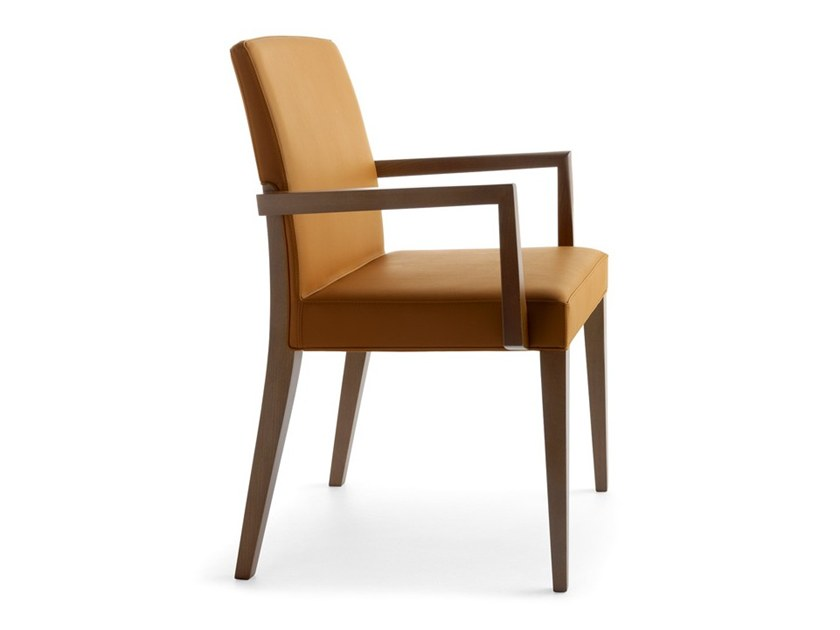 Upholstered chair with armrests CHARME 02521 by Montbel