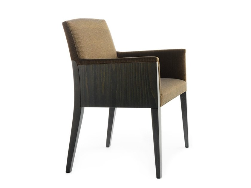 Upholstered chair with armrests CHARME 02531 by Montbel