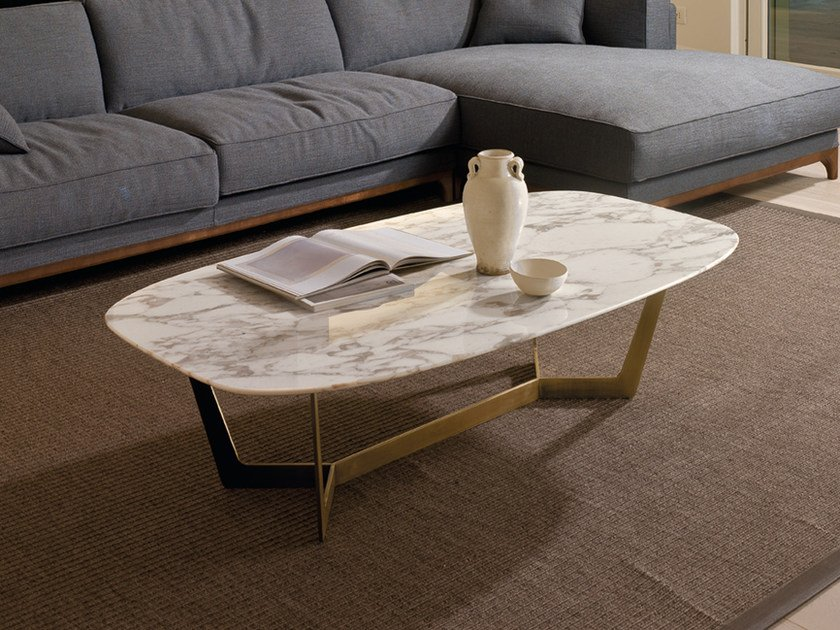 Marble coffee table for living room CHARME | Rectangular coffee table by CTS SALOTTI