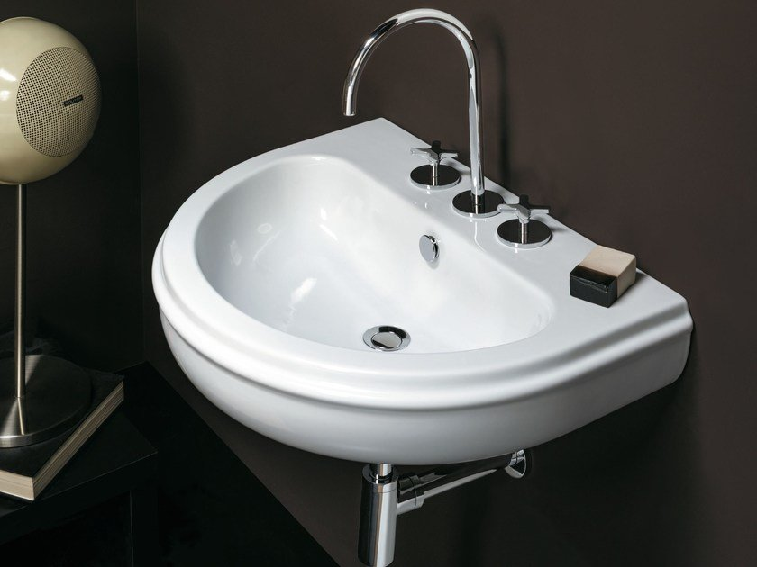 Wall-mounted ceramic washbasin CHARME | Wall-mounted washbasin by AZZURRA sanitari
