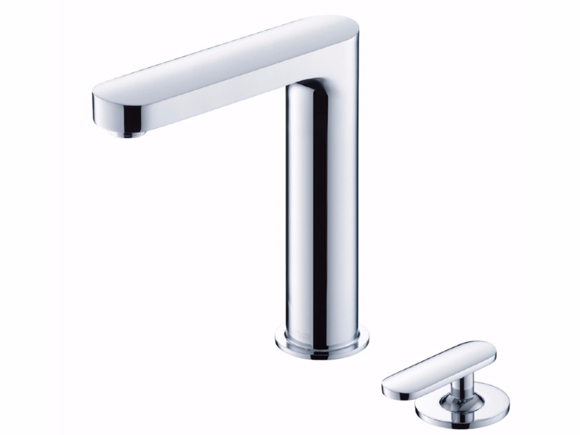 2 hole countertop kitchen mixer tap with swivel spout CHARMING   2 hole kitchen mixer tap by JUSTIME