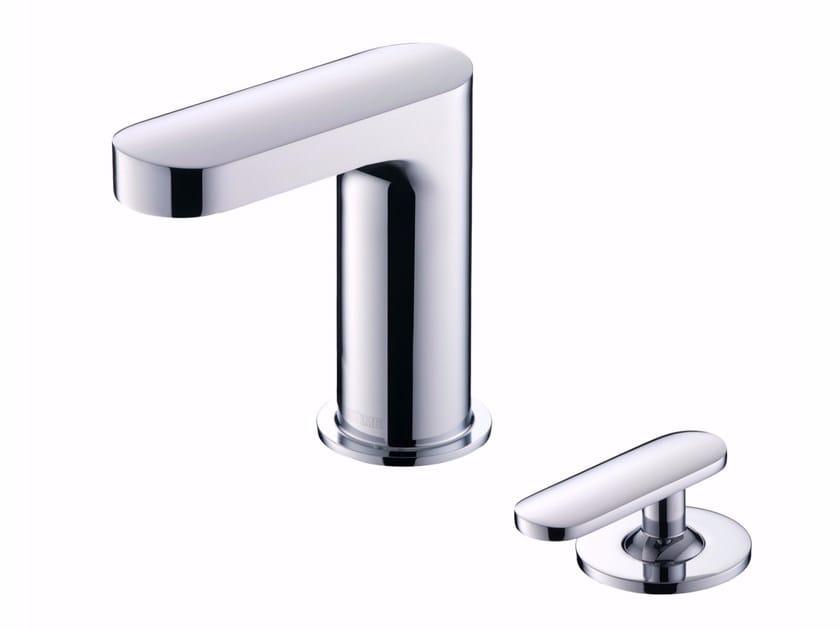 2 hole countertop washbasin mixer with aerator CHARMING   2 hole washbasin mixer by JUSTIME