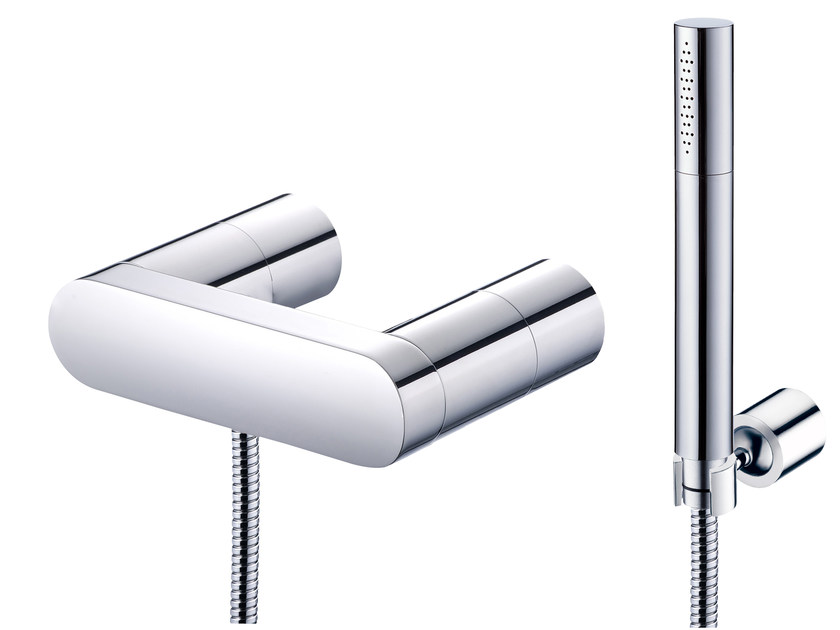Shower mixer with hand shower and wall bracket CHARMING | Shower mixer with hand shower by JUSTIME