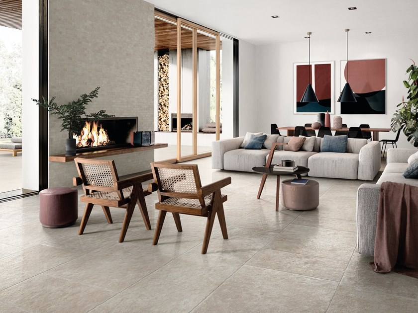 Indoor porcelain stoneware wall/floor tiles CHATEAU BEIGE by EmilCeramica by Emilgroup