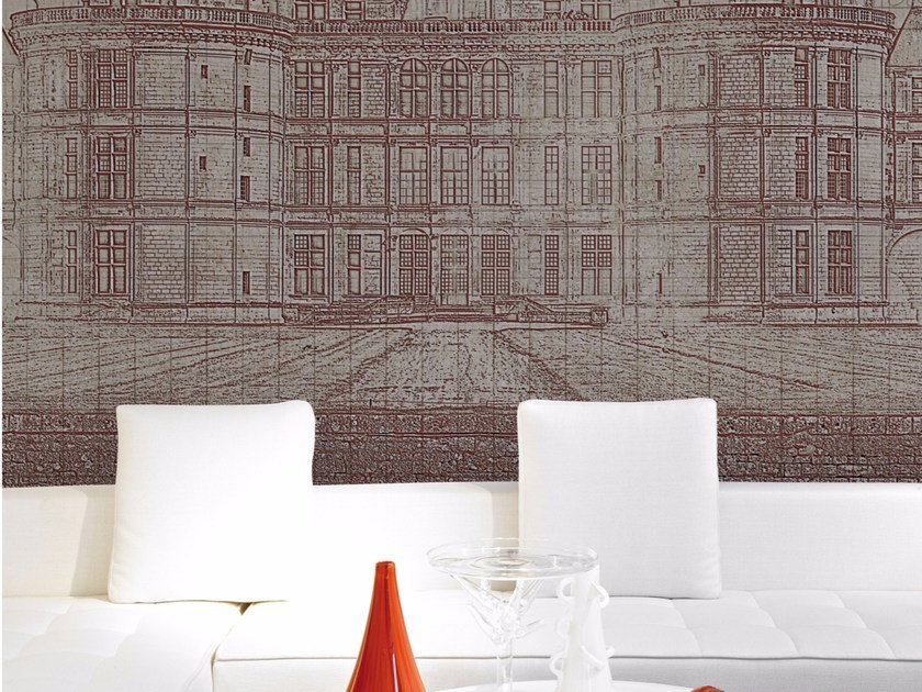 Panoramic landscape wallpaper CHATEAUX by Inkiostro Bianco