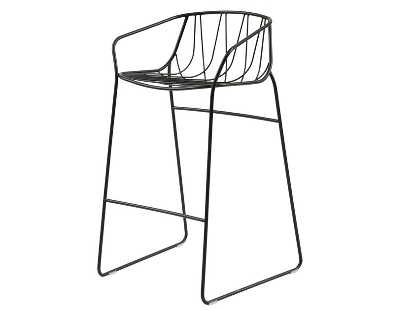 Powder coated steel garden chair CHEE | Chair by SP01
