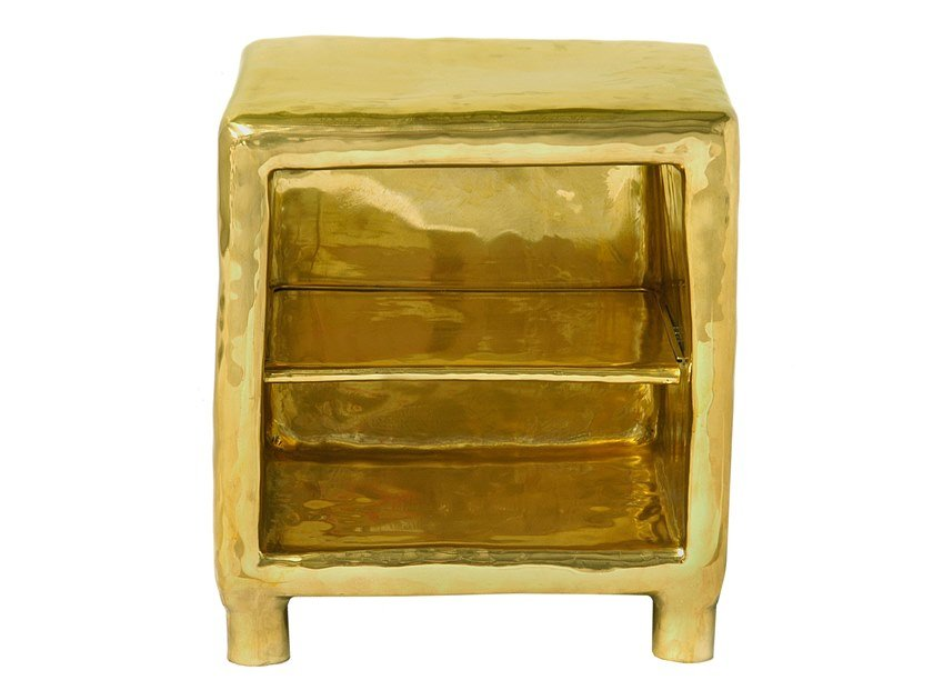 Rectangular brass bedside table CHEER by Scarlet Splendour