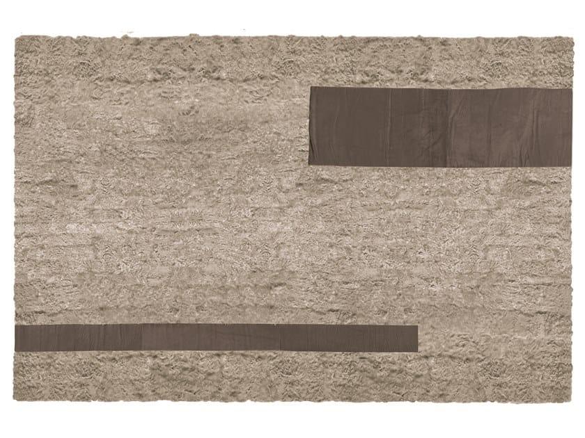 Rectangular lambskin rug CHEKIANG by Longhi