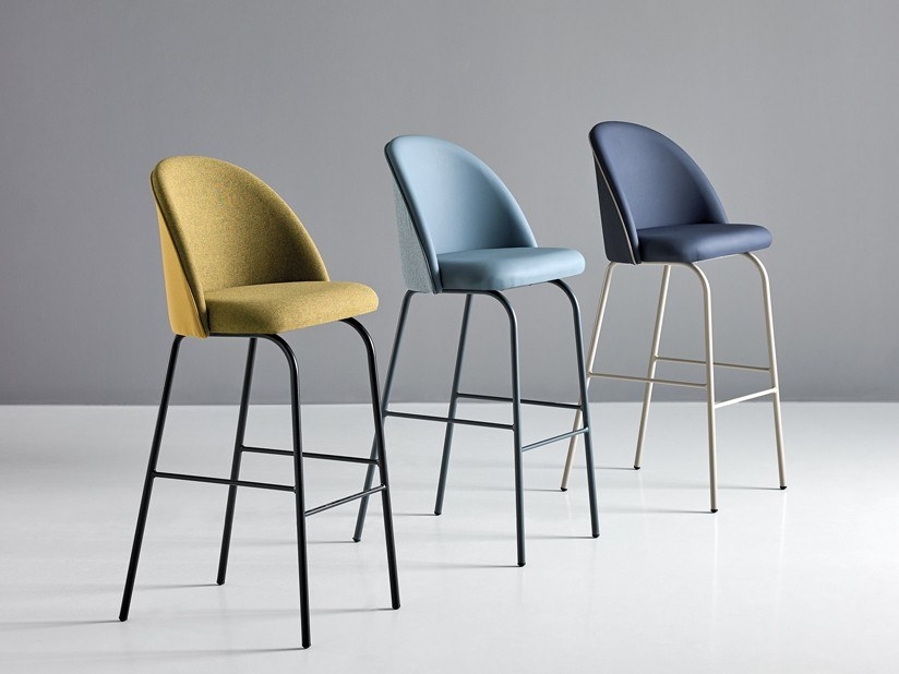 High stool with back CHELSEA 700 TF by Mobboli