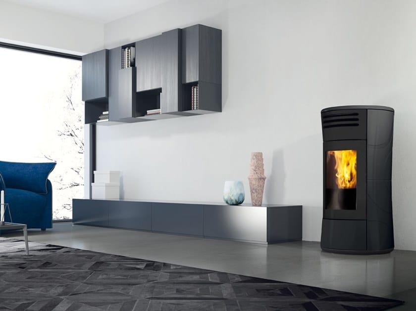 Pellet ceramic stove CHERIE UP | Ceramic stove by EDILKAMIN