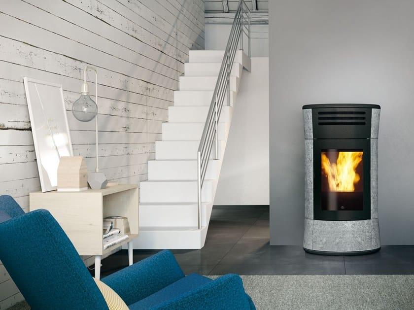 Pellet Soapstone stove CHERIE UP   Soapstone stove by EDILKAMIN