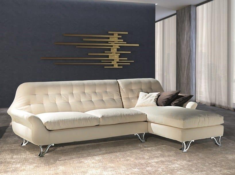 Divano componibile in tessuto con chaise longue CHERUBINO | Divano componibile by Carpanelli