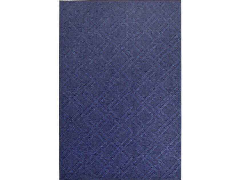 Tappeto a tinta unita rettangolare in poliestere per esterni CHESS 42112 by De Dimora