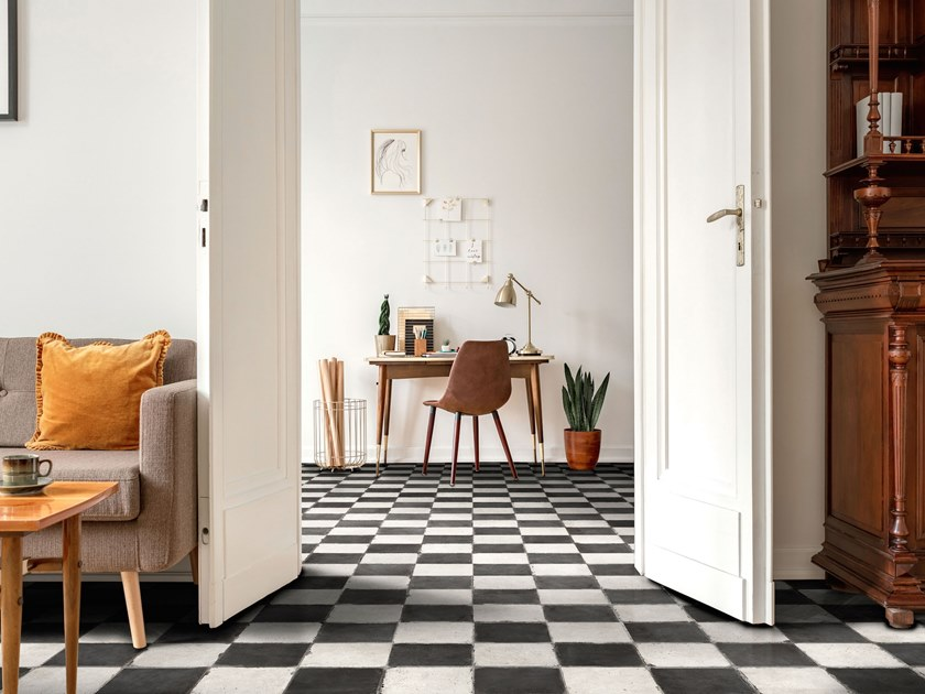 Porcelain flooring with encaustic effect CHESS by ITT Ceramic