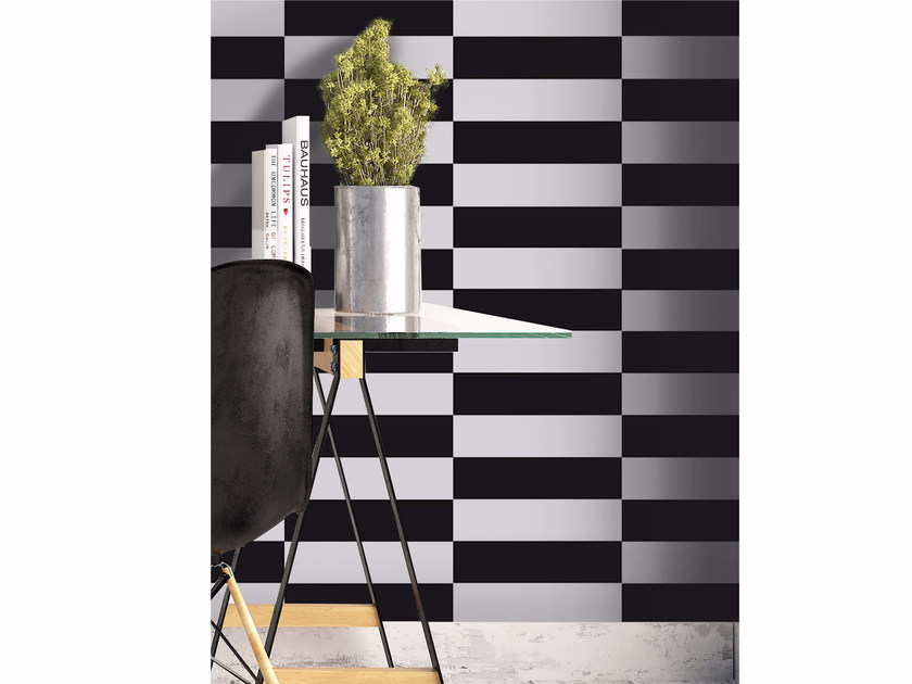 Adhesive geometric washable wallpaper CHESSBOARD by Wall LCA