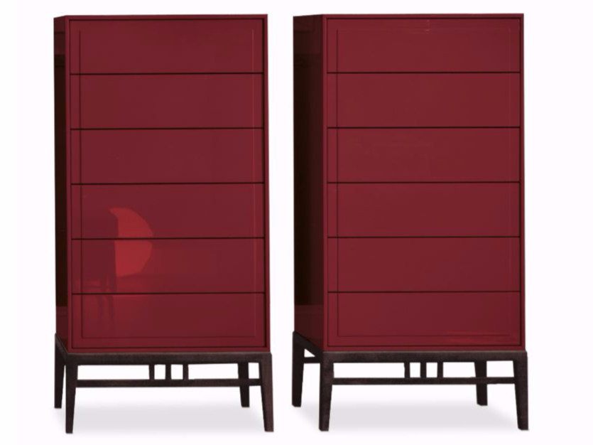 Free standing lacquered chest of drawers ORIENTAL | Chest of drawers by ALIVAR