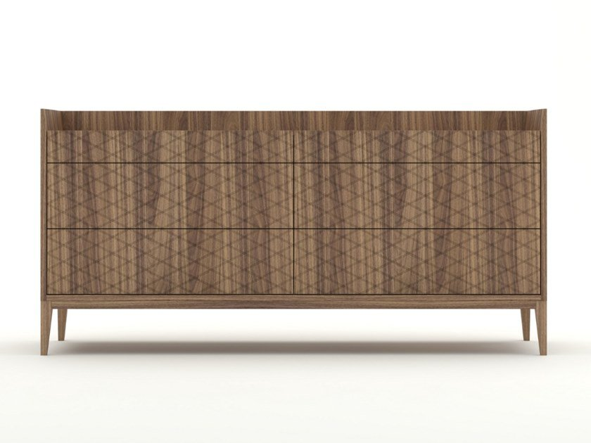 Walnut chest of drawers TRAME | Chest of drawers by Barba design
