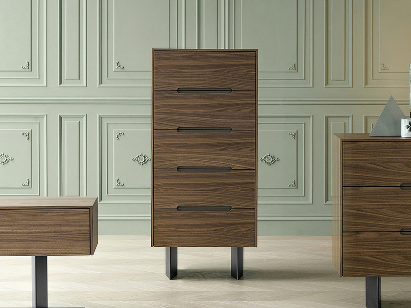 Walnut chest of drawers WAI | Chest of drawers by Bonaldo