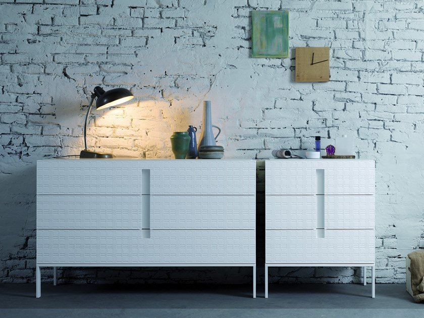 Lacquered wooden chest of drawers ENTERPRISE | Chest of drawers by Capo d'Opera