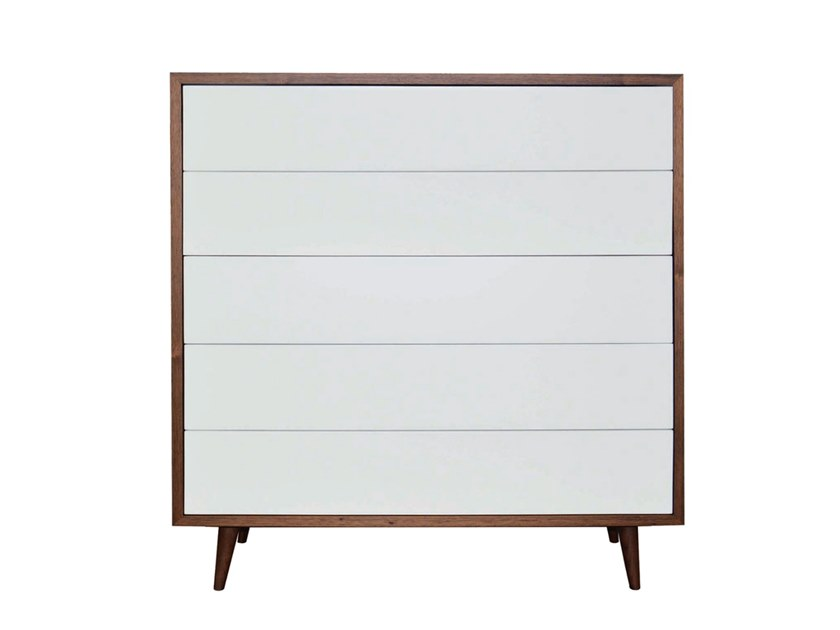 Lacquered wood veneer chest of drawers MIRO | Chest of drawers by Conceito Casa