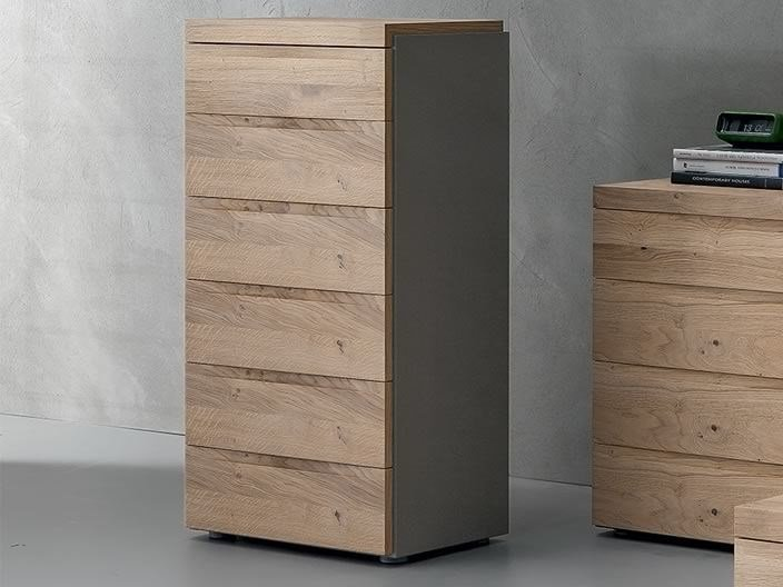 Free standing lacquered wooden chest of drawers KART   Chest of drawers by Dall'Agnese
