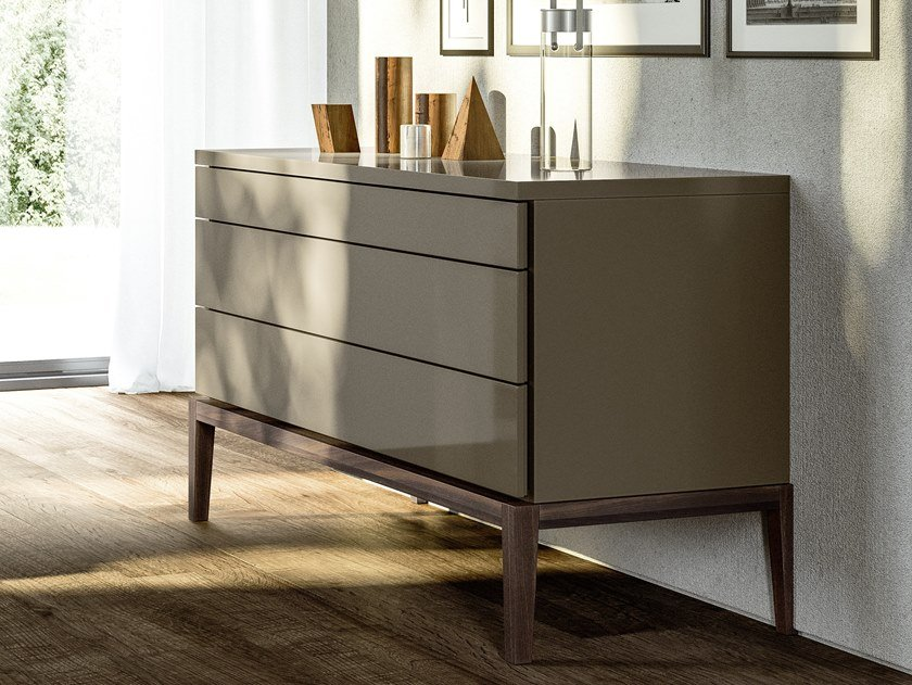 Lacquered wooden chest of drawers DE VILLE | Chest of drawers by JESSE