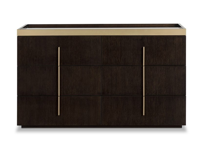 Wood veneer chest of drawers KENSINGTON | Chest of drawers by Stylish Club