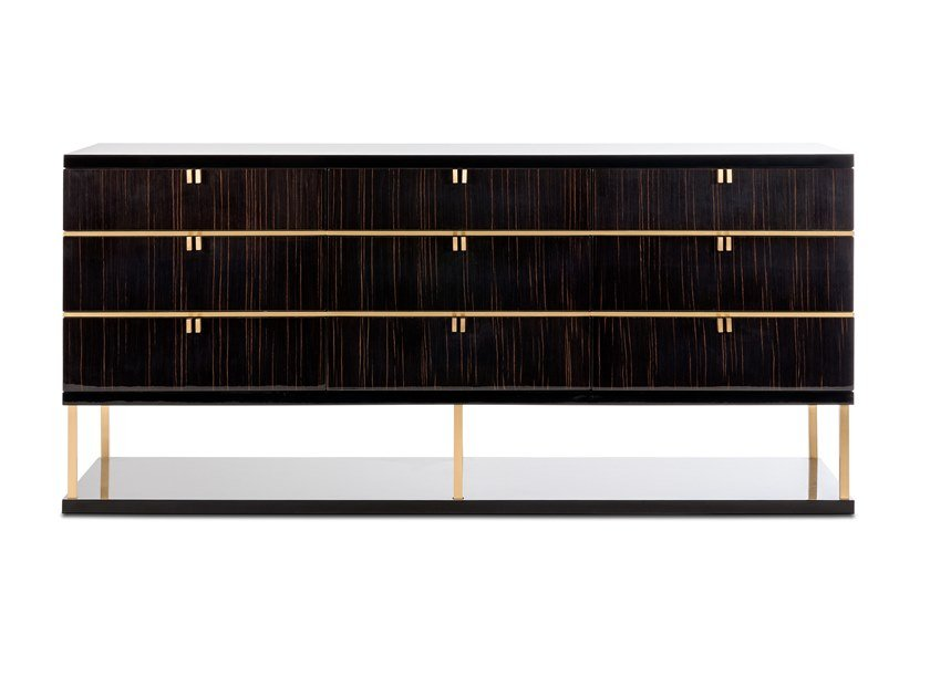 Lacquered wood veneer chest of drawers MANHATTAN | Chest of drawers by Stylish Club