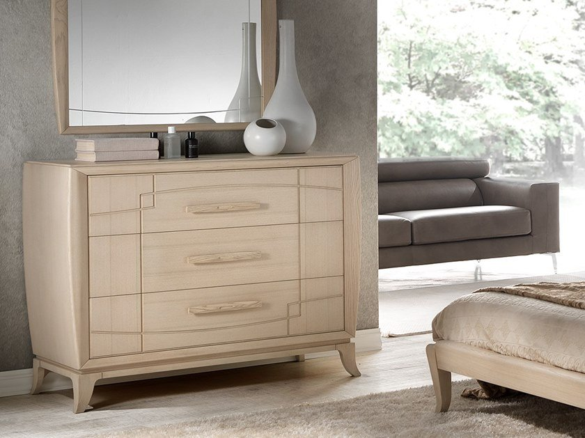 Wood veneer chest of drawers ANTHEA | Chest of drawers by MOLETTA