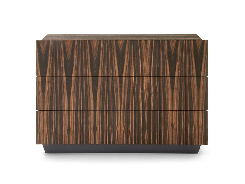 Wooden chest of drawers with integrated handles TOSCA | Chest of drawers by PIANCA