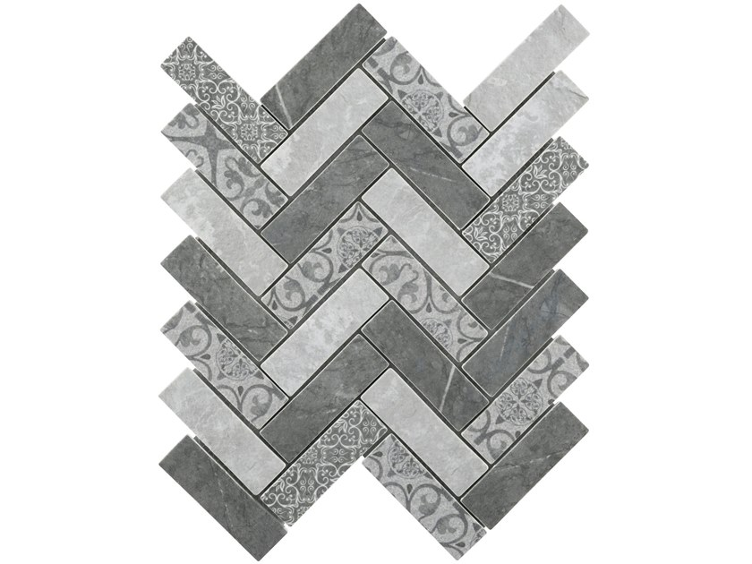 Glass mosaic CHEVRON by BOXER